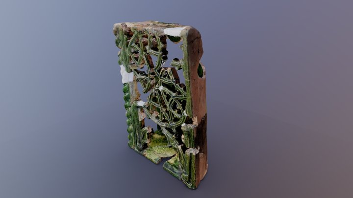 3D scan of restoration work on tile 3D Model