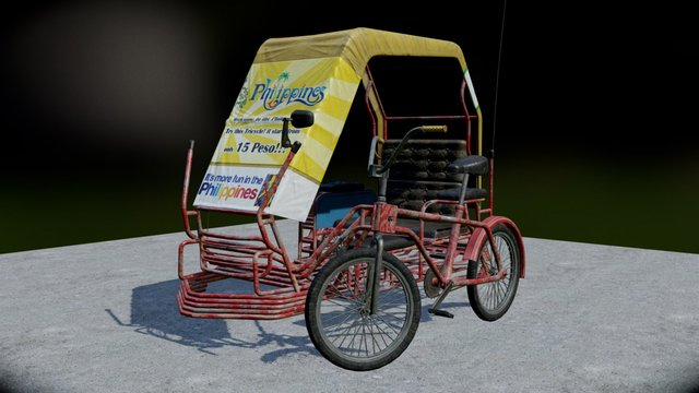 Tricycle Scene 3D Model