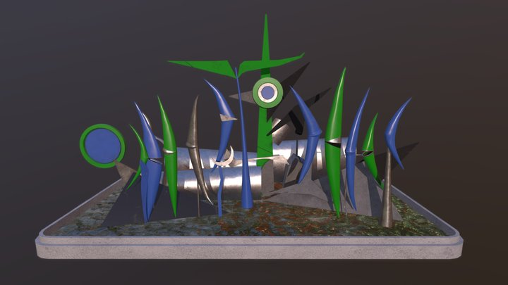 Fontaine Solaire Methor 3D Model