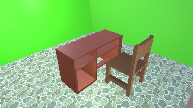Meja dan Kursi 3D Model