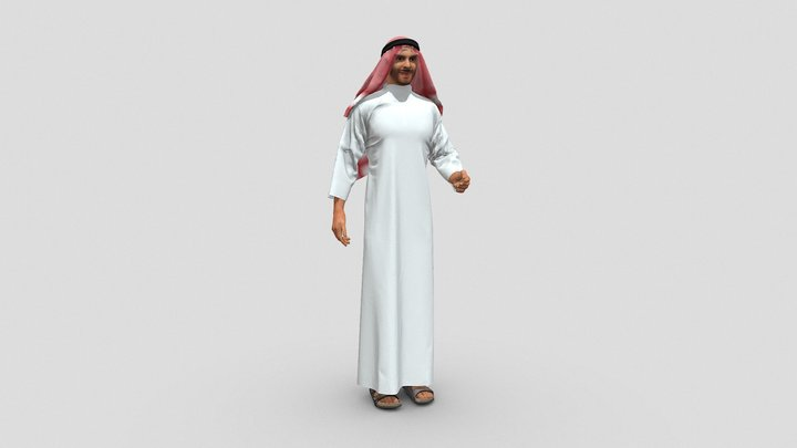 Middle Eastern Man in Thawb - 3D People 3D Model