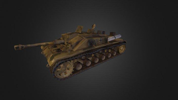 Lowpoly STUGIII 3D Model