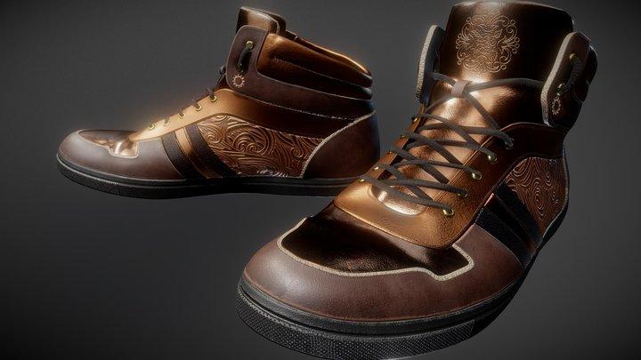 SteamPunk Shoes 3D Model