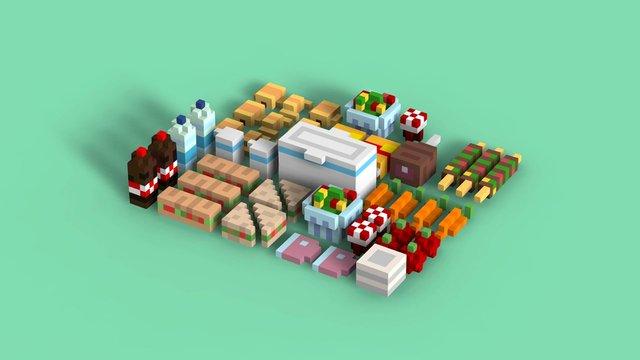 Picnic - weeklyvoxels 3D Model