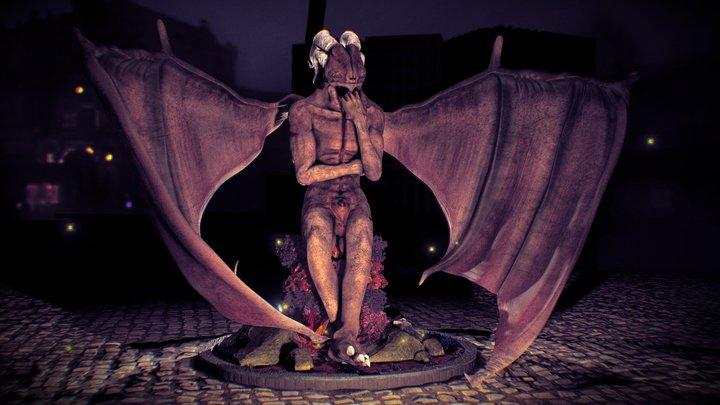 A Pondering Gargoyle 3D Model