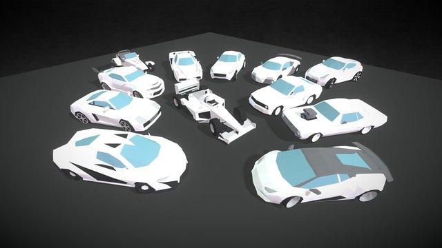 Small Cars - Sport 3D Model