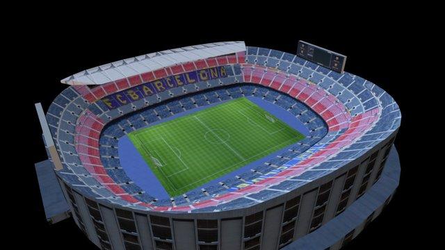 Camp Nou Stadium 3D Model