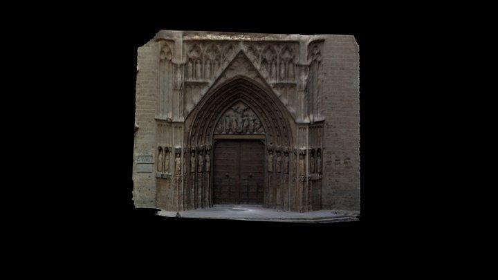 Pórtico De La Catedral De Valéncia 3D Model