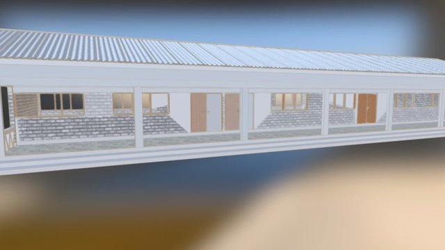 Ghana School 3D Model
