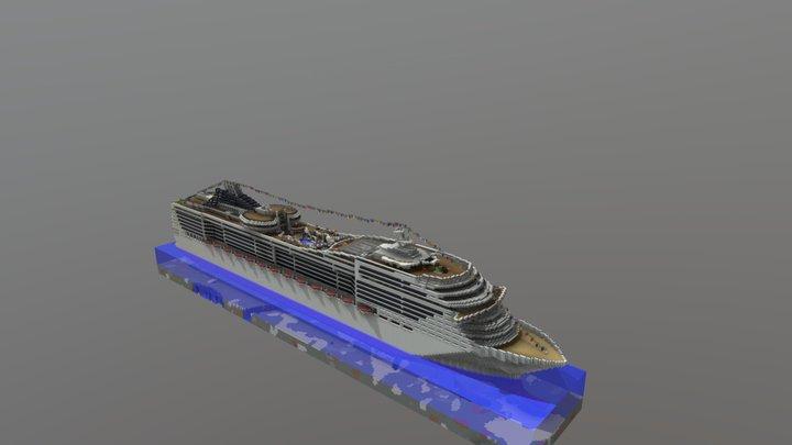 Cruise Ship (Minecraft build) 3D Model