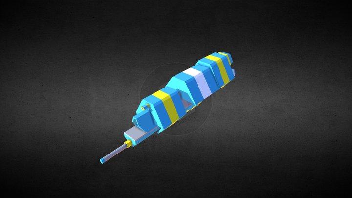 Low-poly Space Cap Ship 3D Model