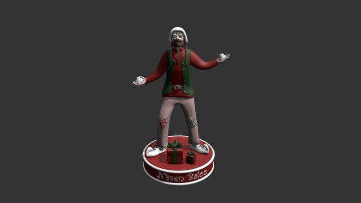 Nisson Baloo Visitkort og 3D-printet figur 3D Model