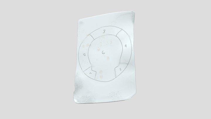 Carton vitrail pour calibre 3D Model