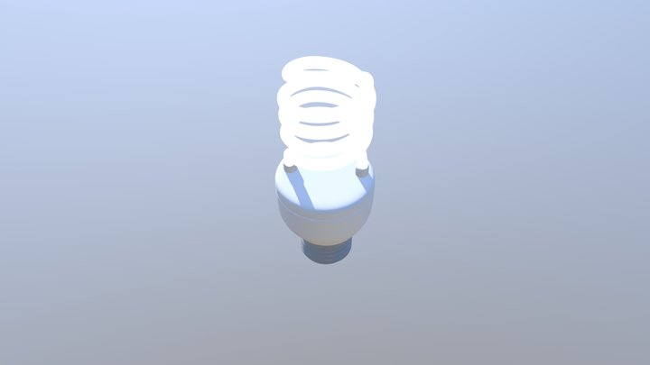 Fluorescent Light Bulb 3D Model