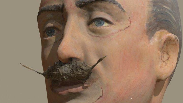 Papier Maché Head. 1900s 3D Model