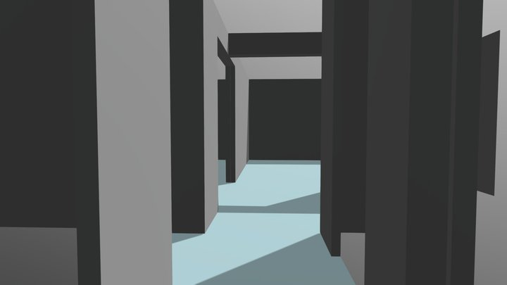 Olohuone Keittiö Eteinen 3D Model