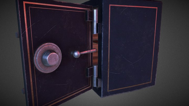 Old Used Safe 3D Model