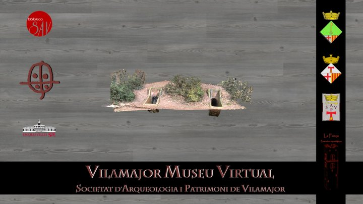 Aeròdrom d'Alfou (S.A.V.) Refugi 1 v DEMO 3D Model