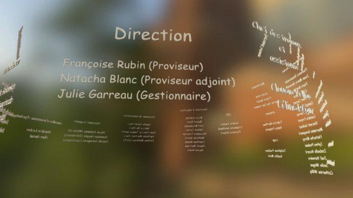 Organigramme du lycée Blaise Pascal 3D Model