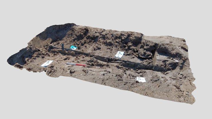 Het Zwaard van Nieuwegein, in situ. 3D Model