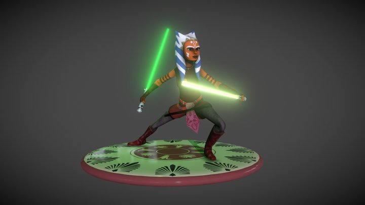 Ahsoka Tano Clone Wars 3D Model