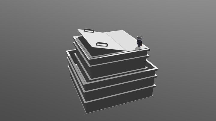 ENSEMBLE CUVE + RETENTION 3m3 3D Model