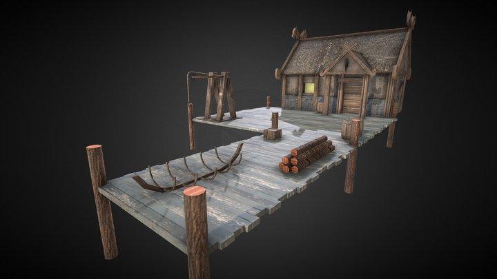 Shipyard Pier 3D Model