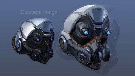 Sci-Fi Helmet 3D Model