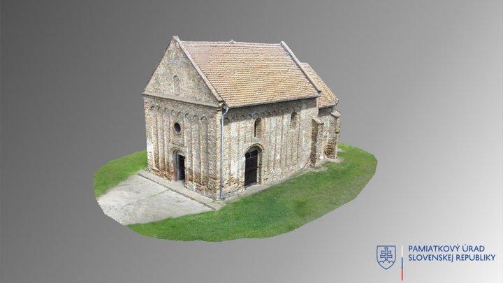 Čierny Brod - Kostol Narodenia Panny Márie 3D Model