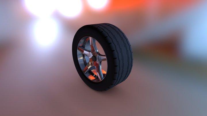 (Rim 1) (Tire Tread 4) 3D Model