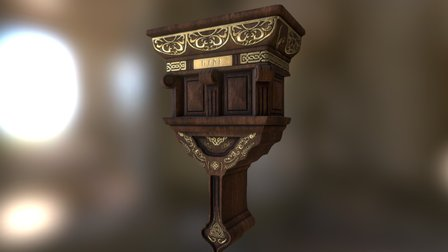 Dungeon Env Prop. Wall Base 3D Model