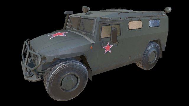 GAZ-2975 Tigr 3D Model