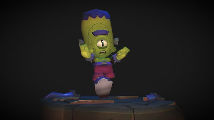 Franko, the little Frankestein 3D Model