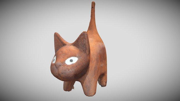 Gato de barro 3D Model
