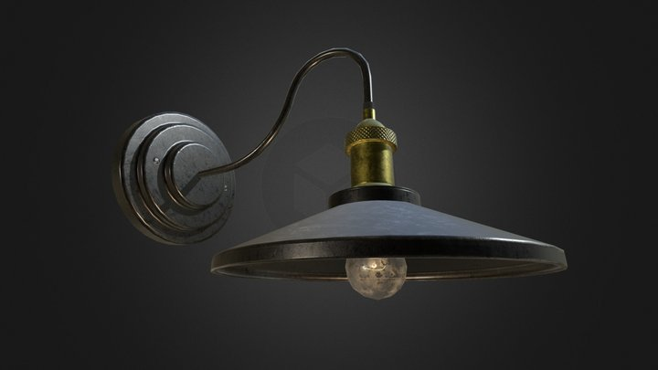Vintage Wall Lamp 3D Model