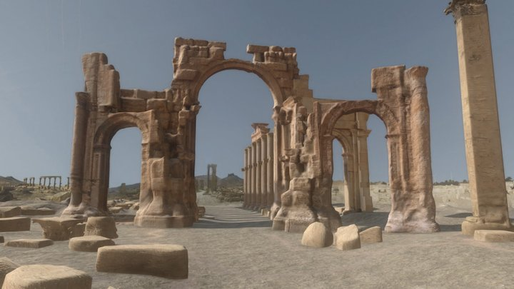 Arch of Triumph in Palmyra 3D Model
