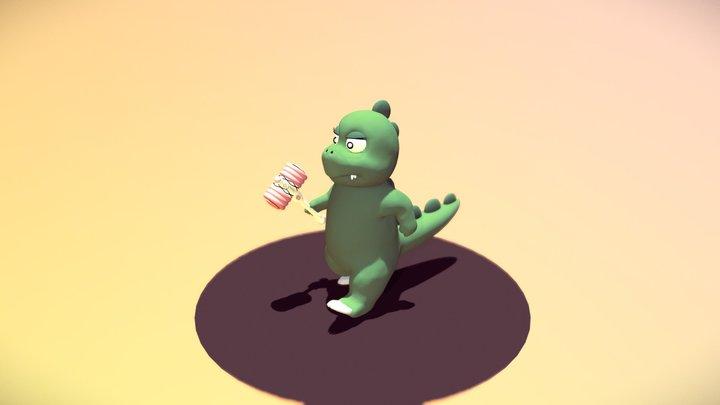 Muka - Chú khủng long con ham ăn 3D Model