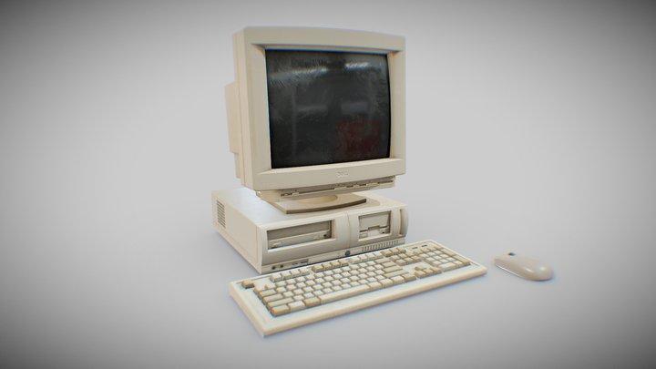 90s Pc Desktop style 001 3D Model