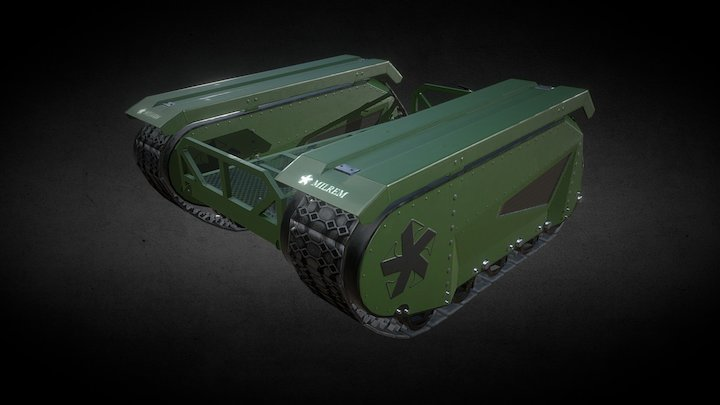 Unmanned ground vehicle 3D Model