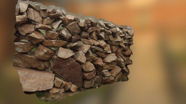 [FREE] Scanned Rock Wall 3D Model