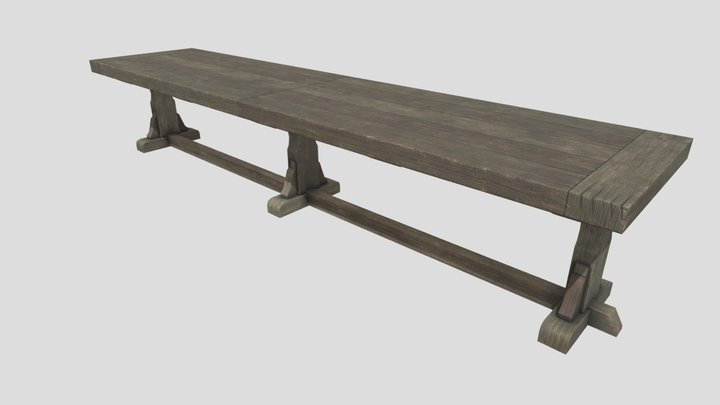 Extra Long Table 3D Model