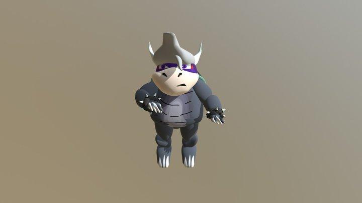 Zarko Fight Fly Pose 3D Model