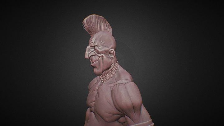 Mohawk chief 3D Model