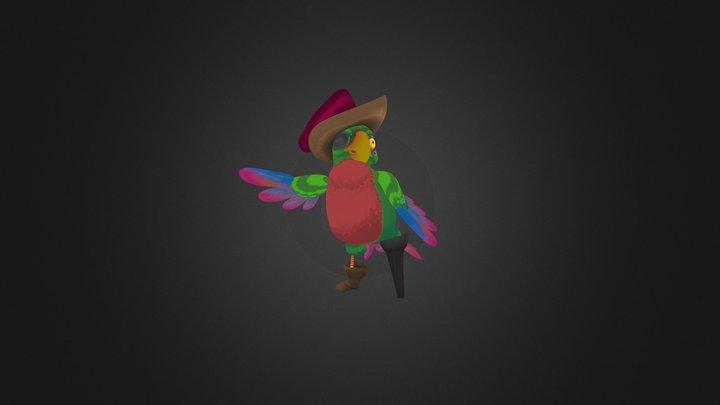 Piratey Parrot 3D Model