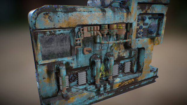 Machinery Post-Apocalyptic 3D Model