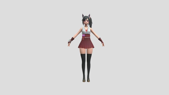 Aya Beautiful Lady 3D Model