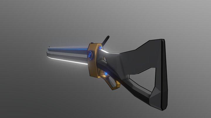 Blade Rifle 3D Model