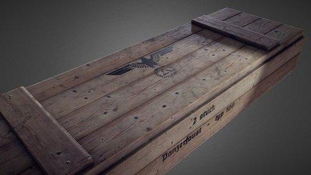 World War II Panzerfaust Crate 3D Model