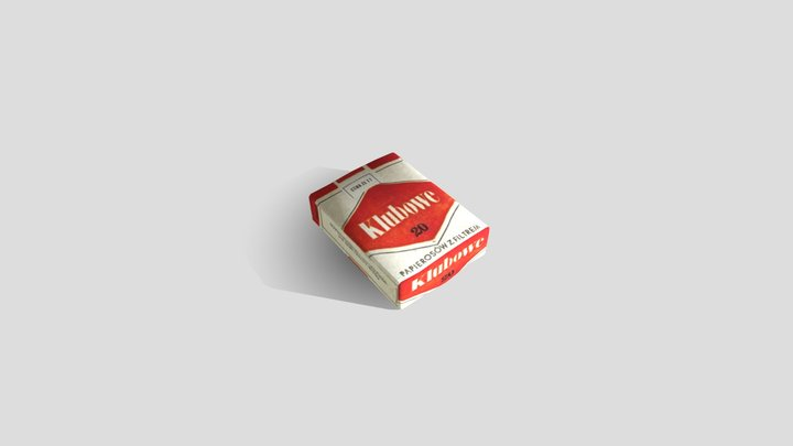 Old packet of cigarettes - 80s - Klubowe 3D Model