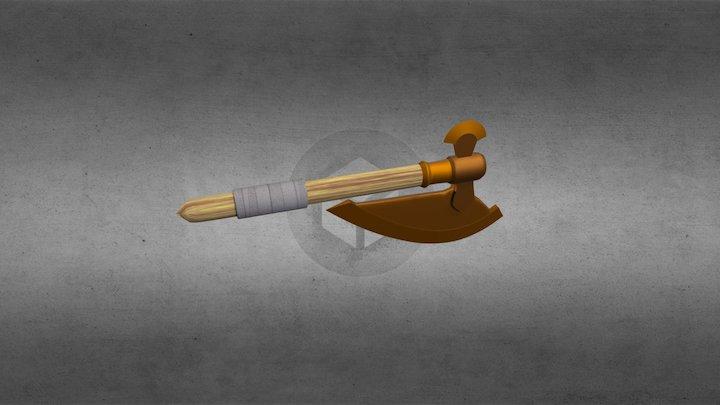 Bronze Battleaxe 3D Model